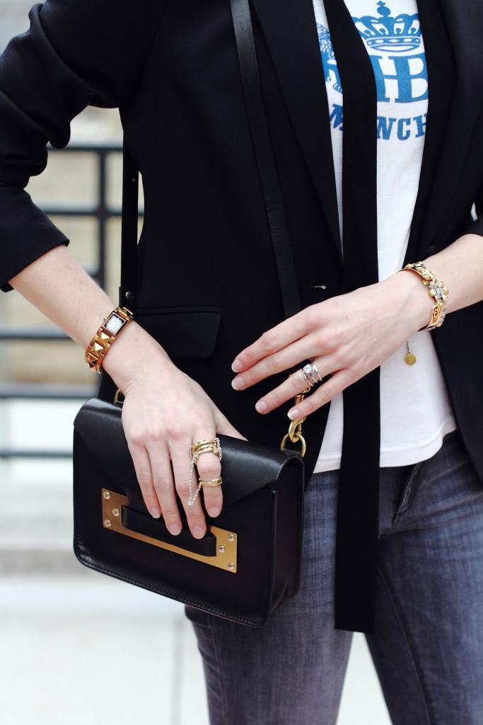 skinny scarf and Ela Stone jewelry