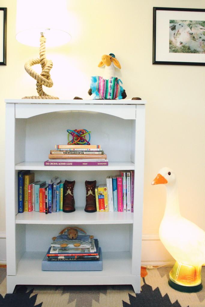 southwestern nursery bookshelf