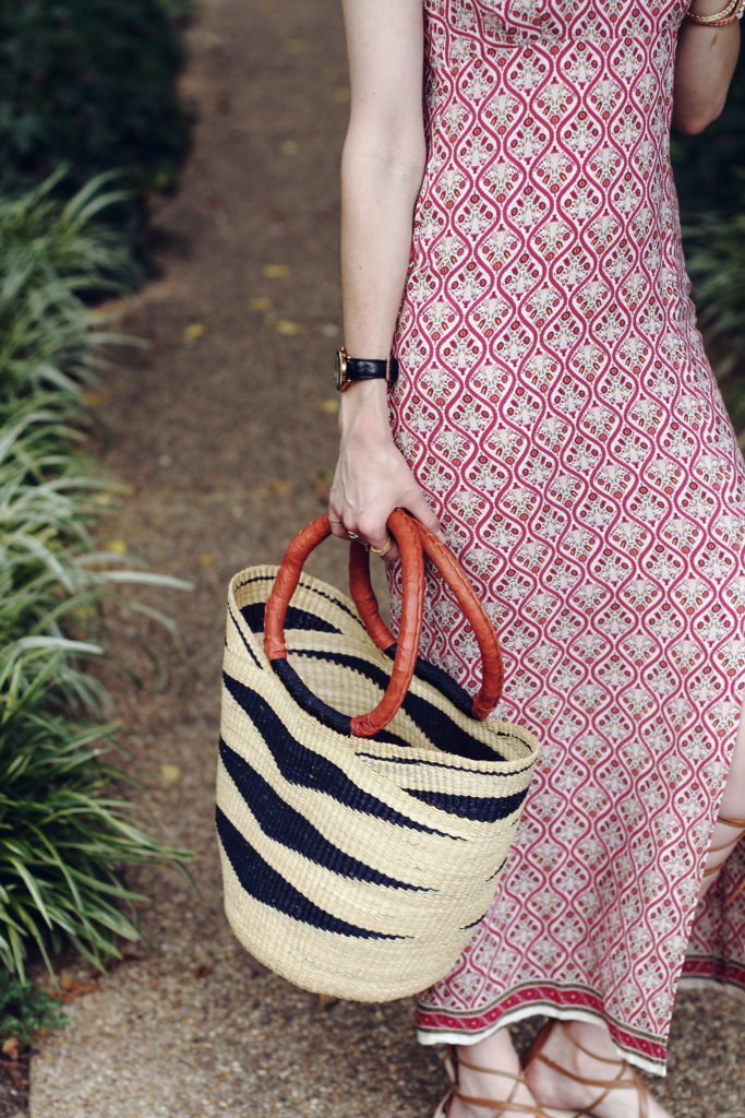 straw market dress and boho dress