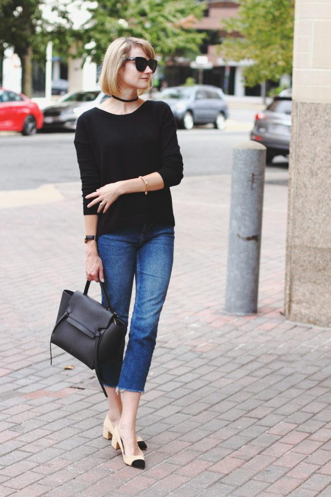Express sweater and Topshop denim