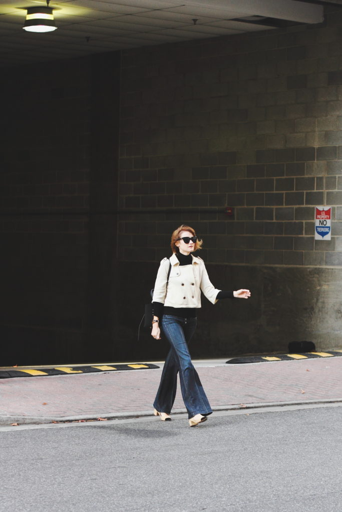 cropped trench and tailored denim