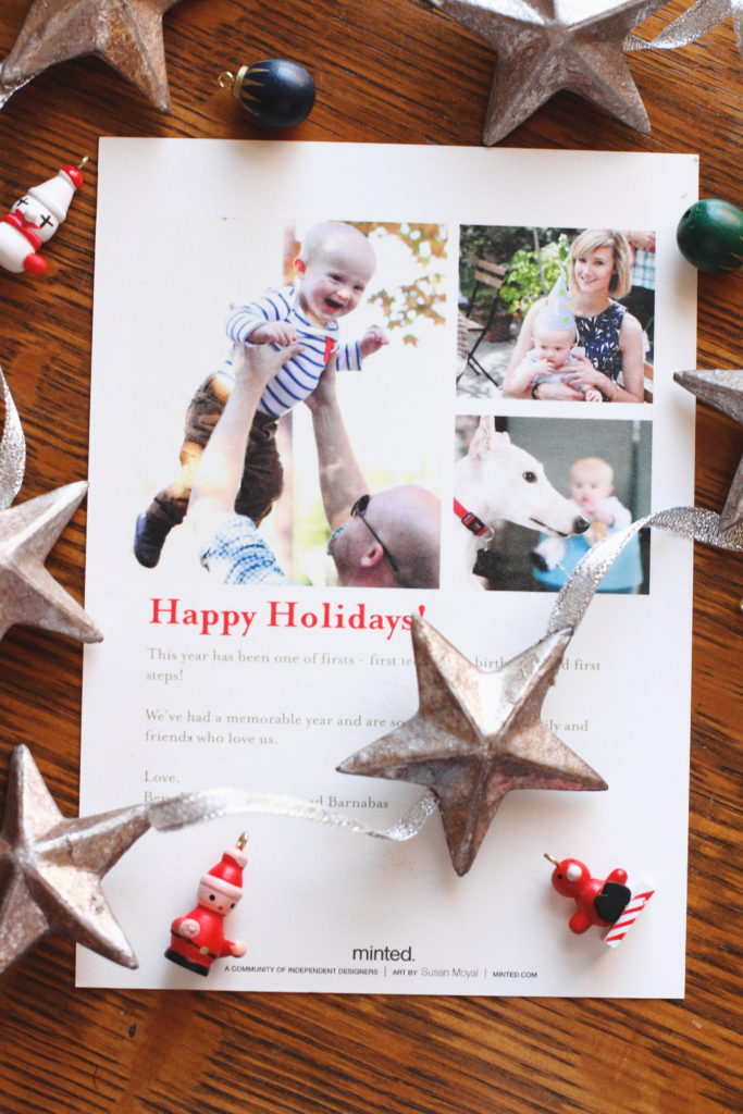 Minted Christmas Sprigs Holiday Card