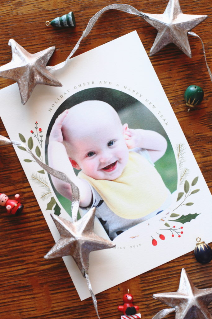 Minted Christmas Sprig Holiday Card