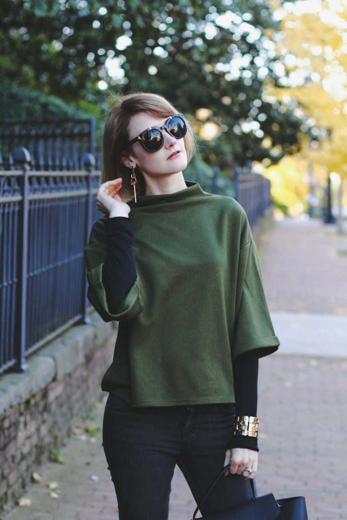 Genuine People sunglasses and Shein top