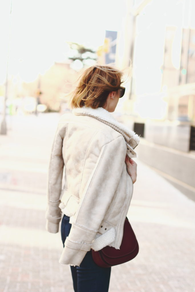 Mango shearling jacket