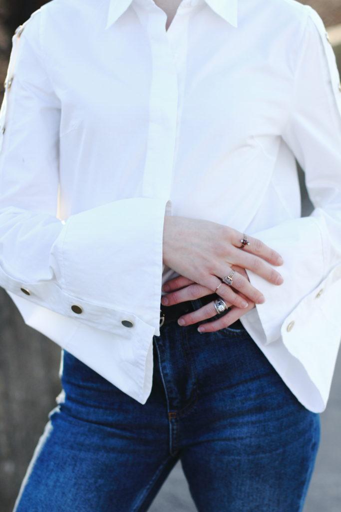 Pixie Market bell sleeve button-down