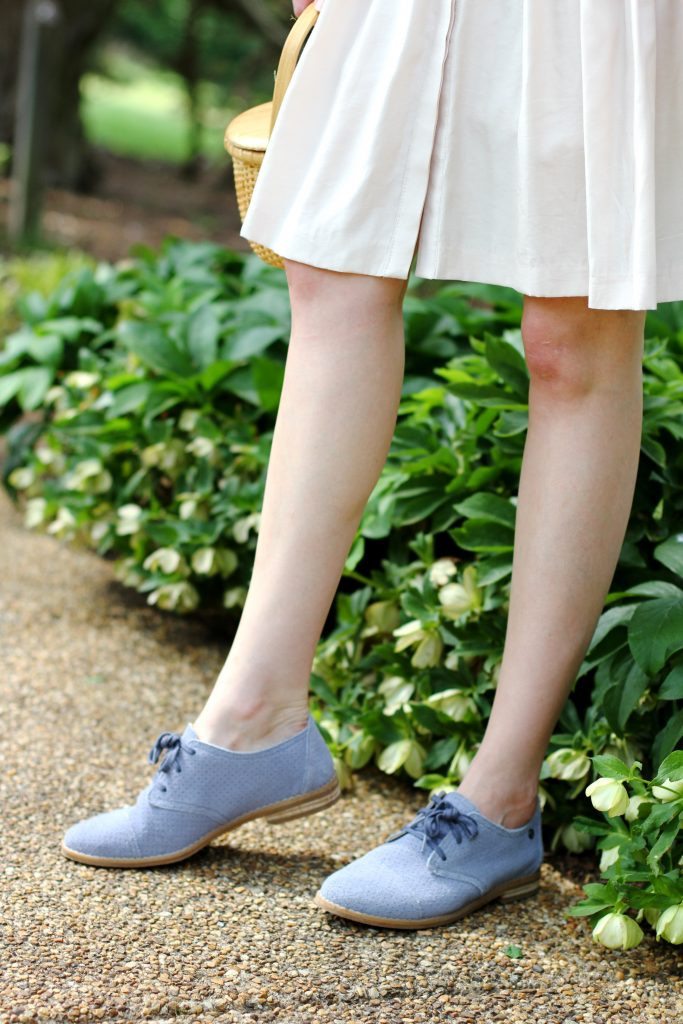 Hush Puppies blue suede oxford