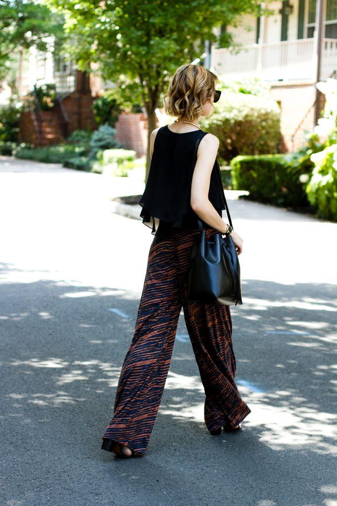 Zara top, Forever 21 pants, and Mansur Gavriel bag