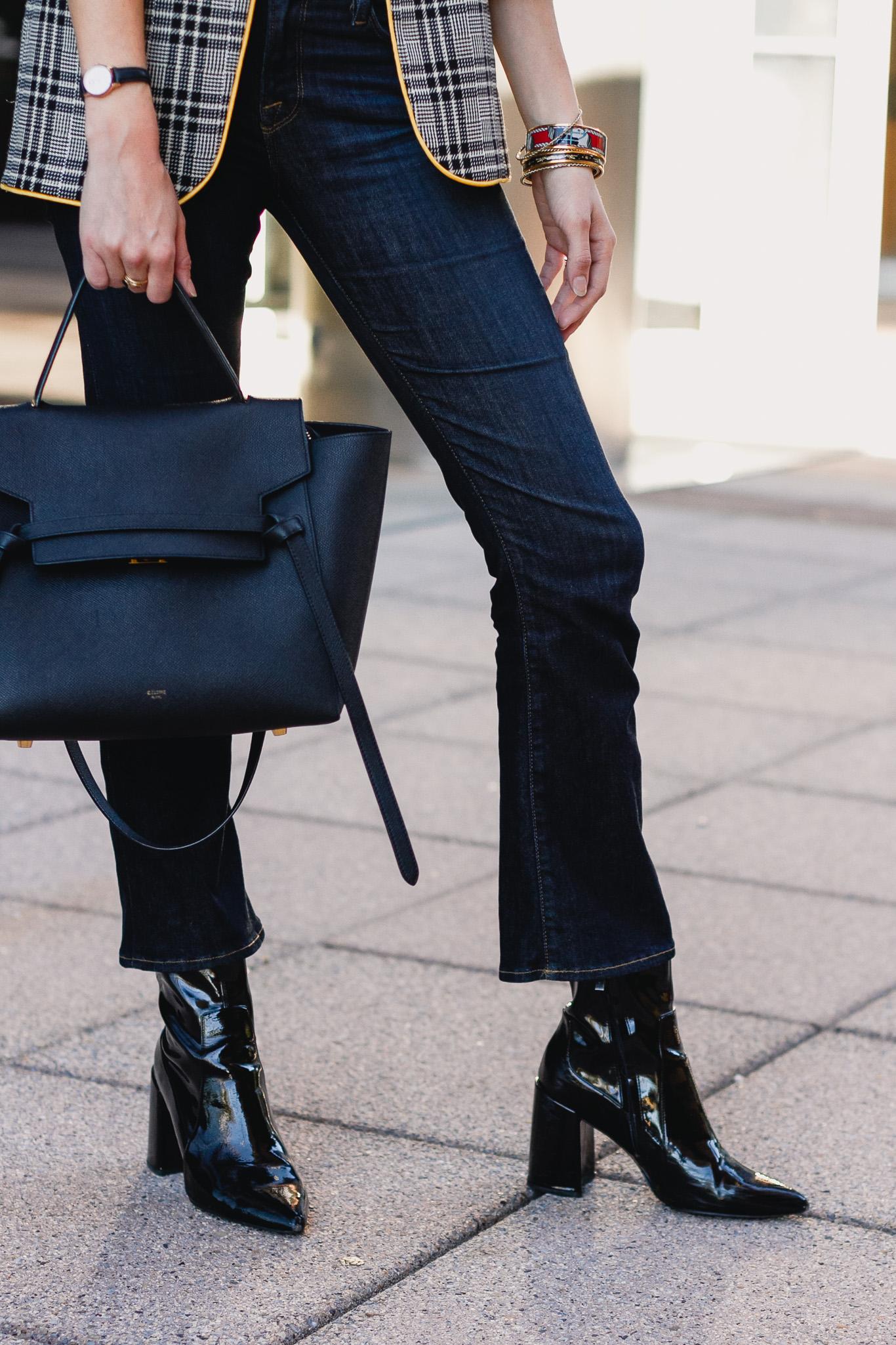 Frame jeans, Mango boots, Celine bag