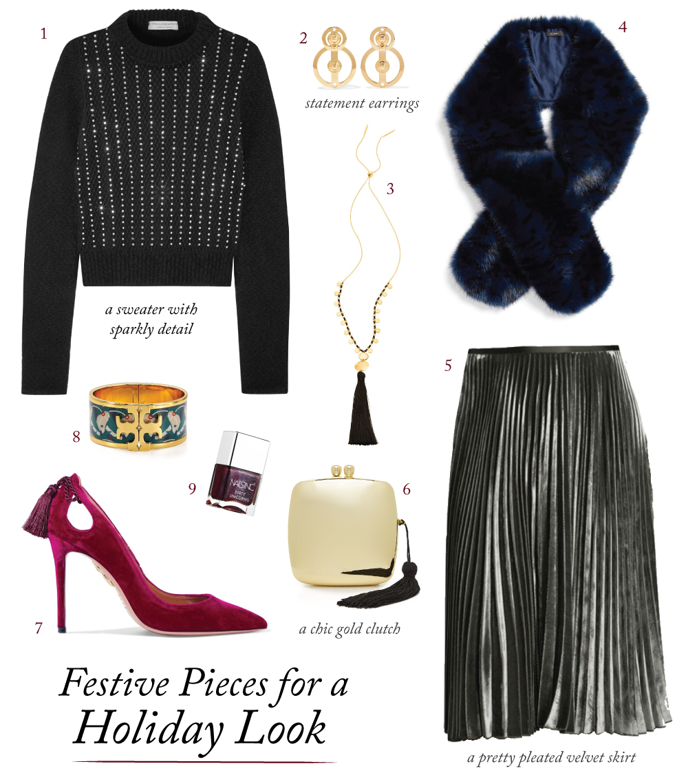 festive pieces for a holiday look