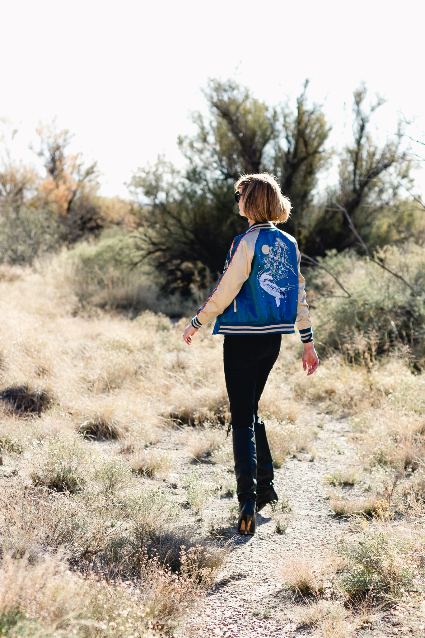 western-inspired outfit in Bottomless Lakes, New Mexico