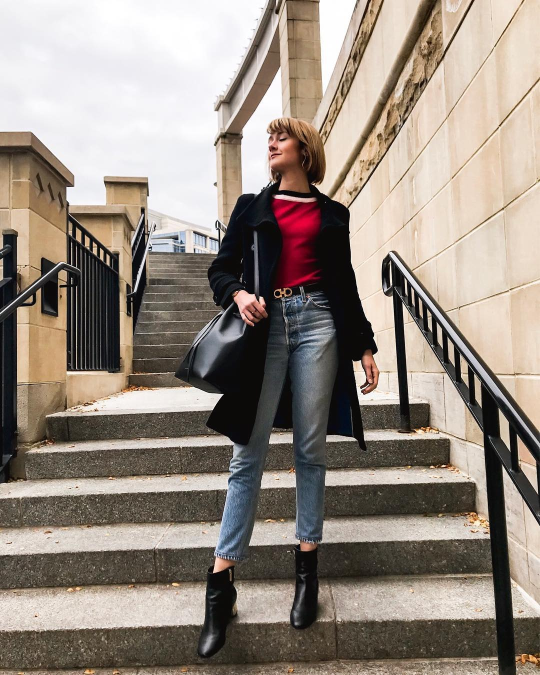 Marni sweaters and Re/Done jeans