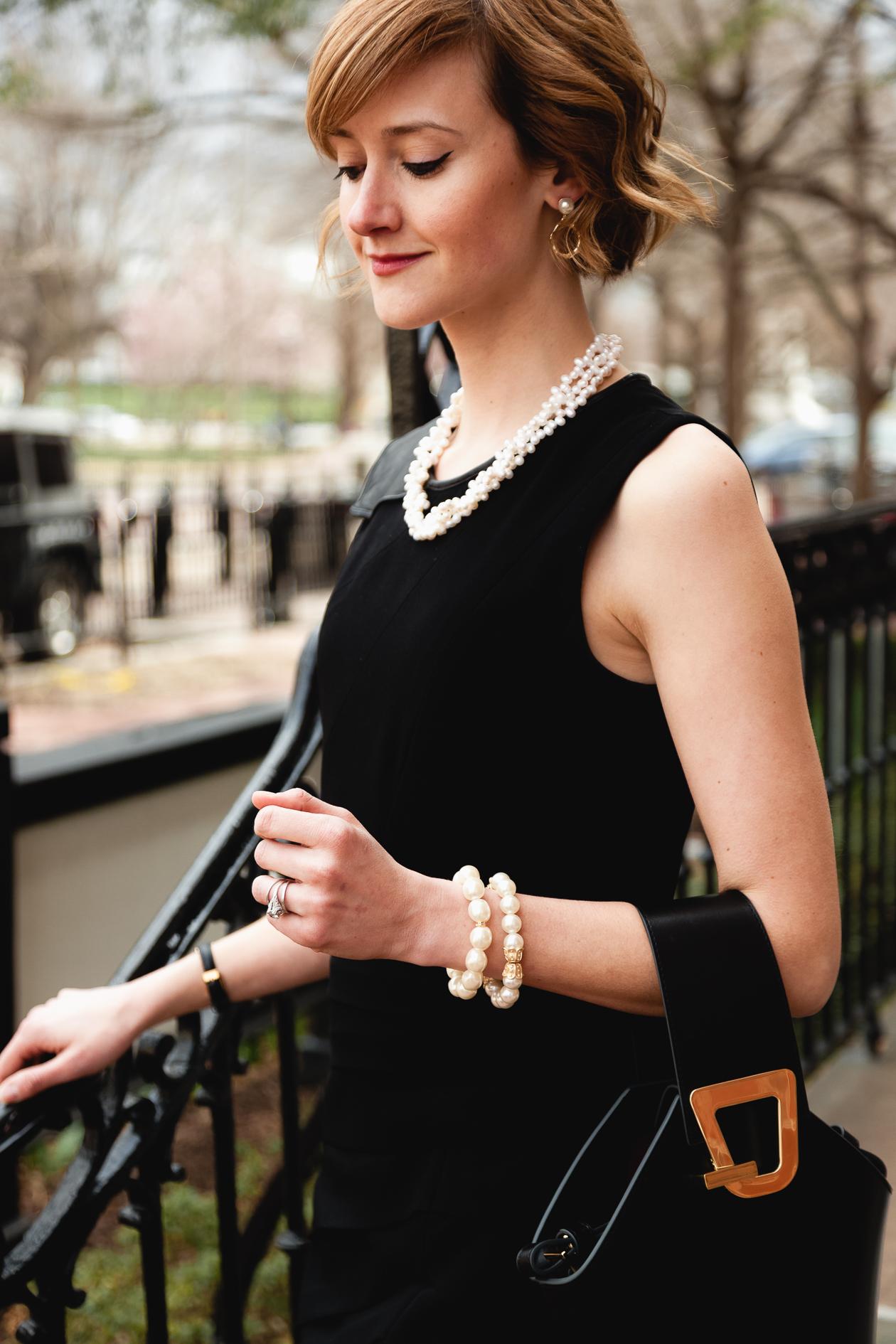 Queen Bee Designs jewelry and Rag & Bone dress
