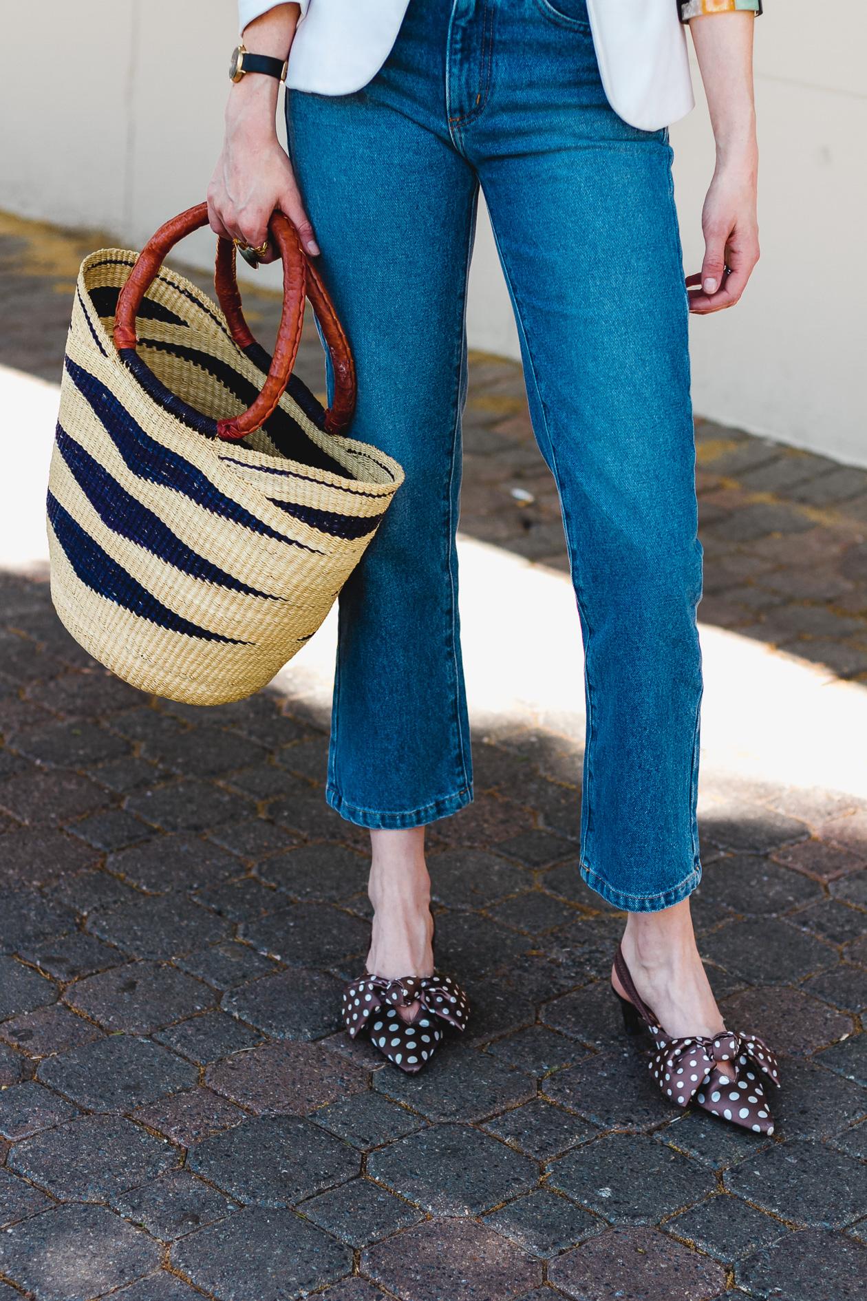Need Supply jeans and polka dot pumps
