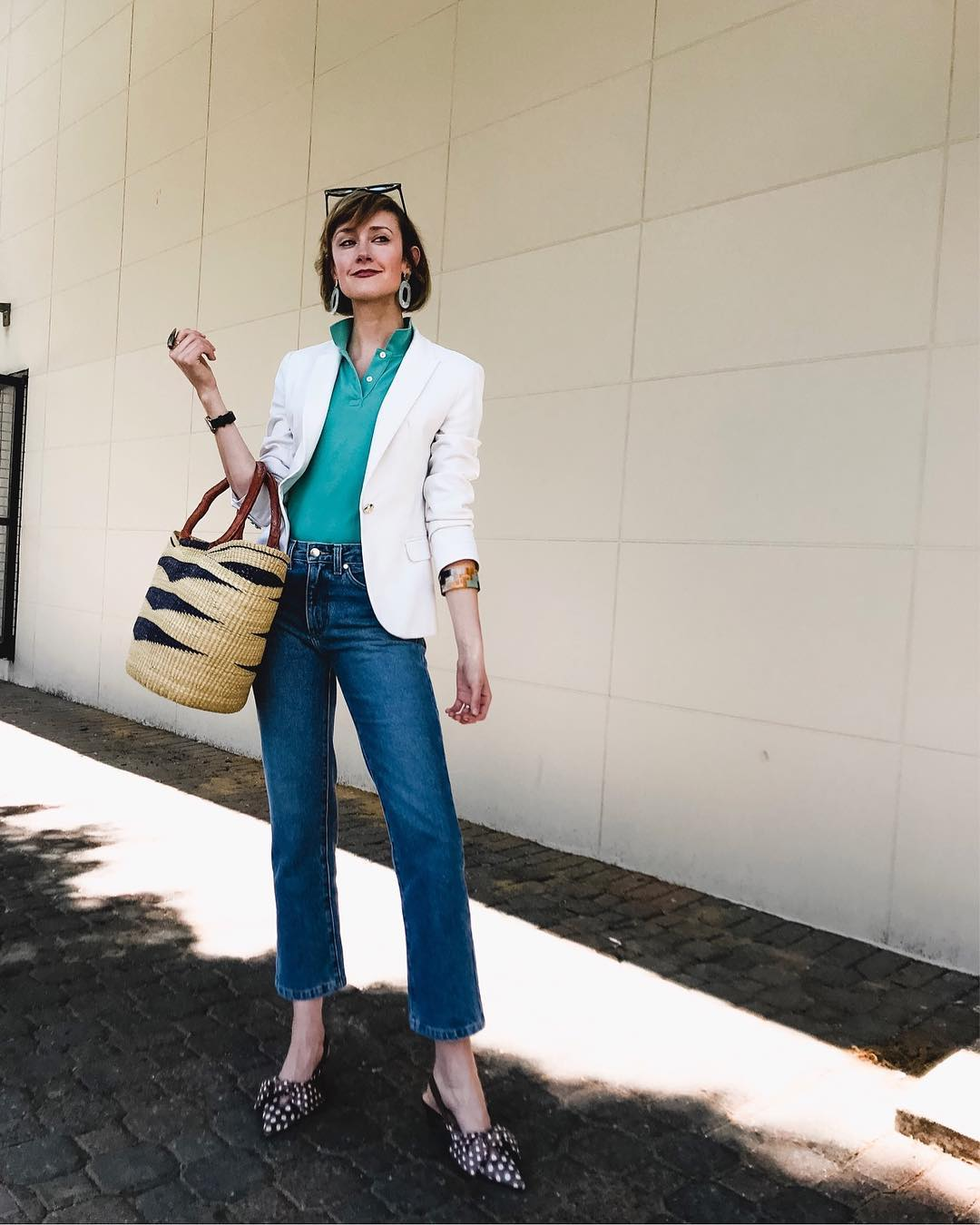 Zara blazer and Need Supply jeans