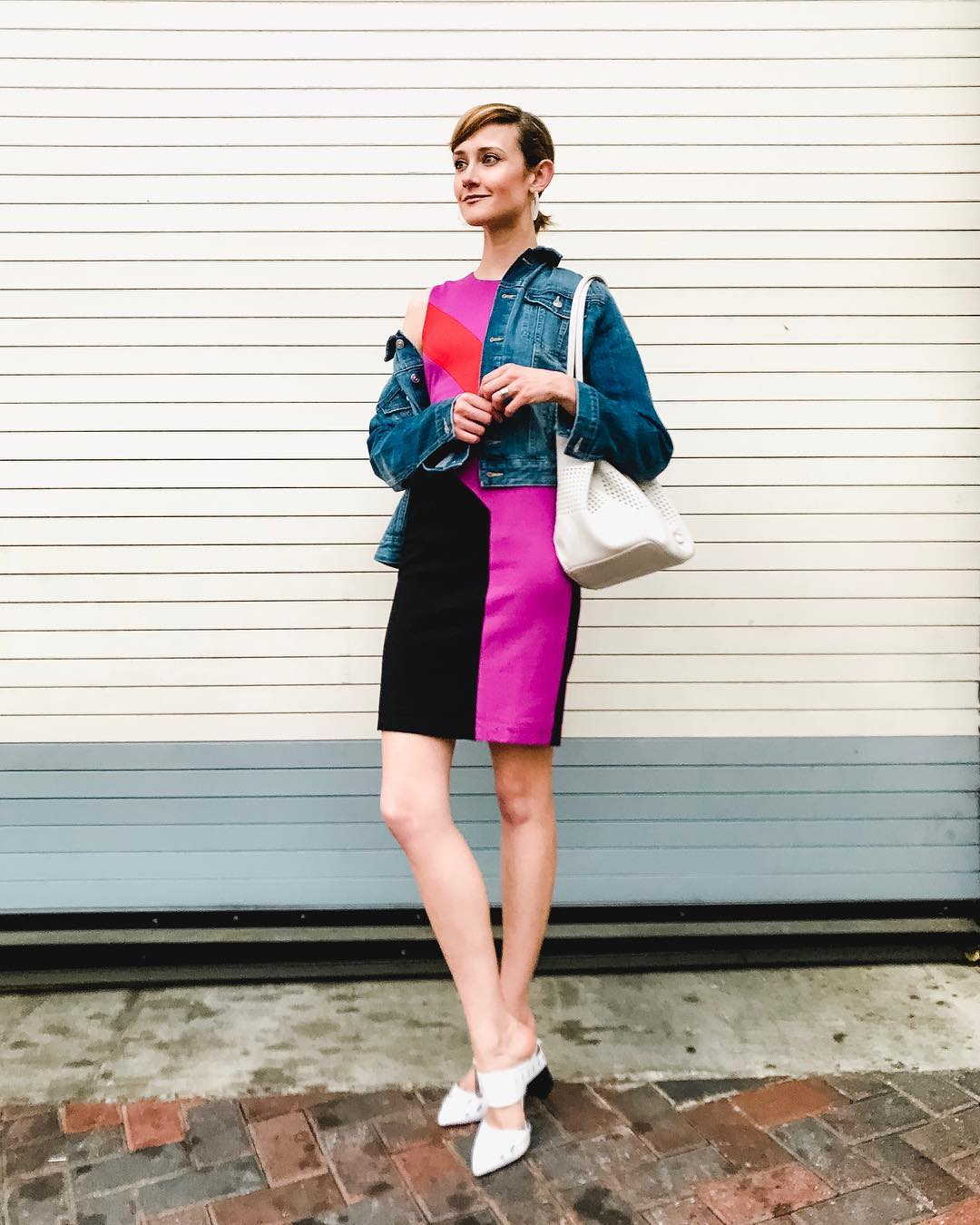 Current boutique colorblock dress