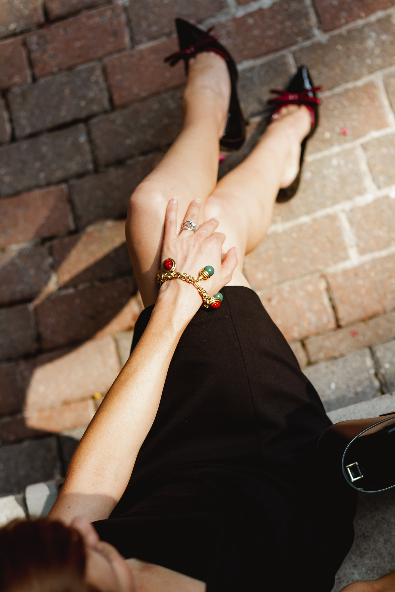 Brooks Brothers scarab charm bracelet