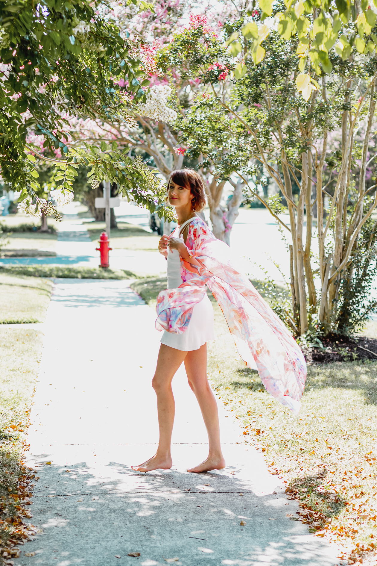 South Moon Under pink kimono