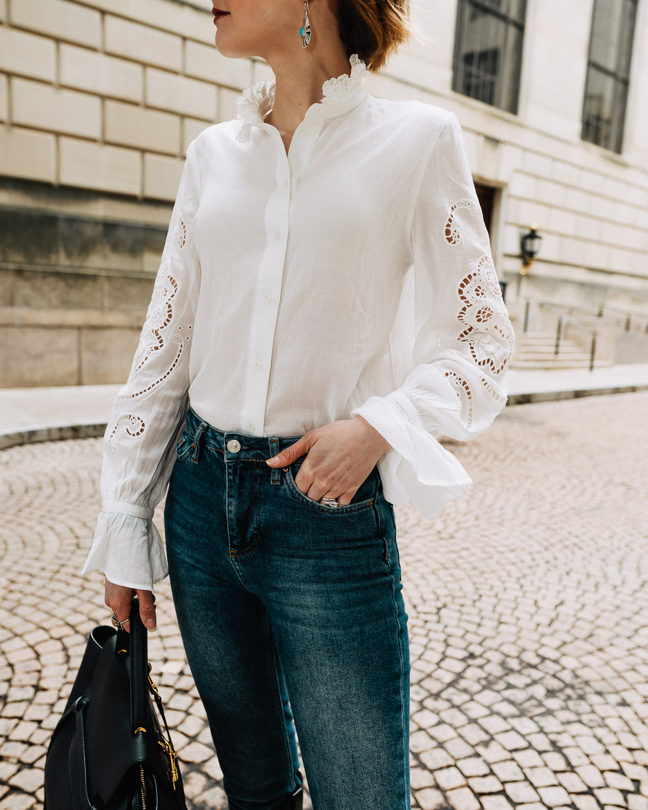 & Other Stories puffy sleeve blouse
