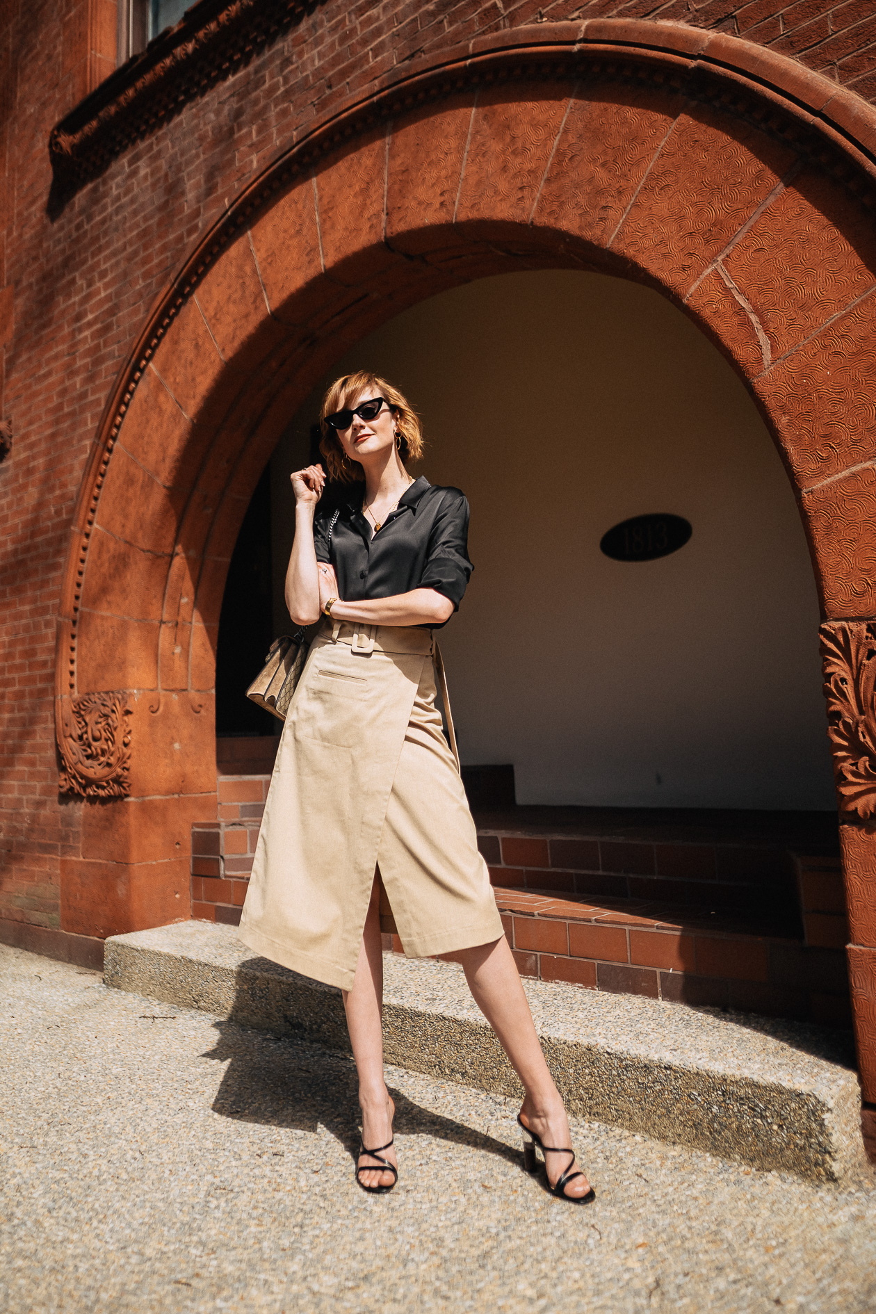 & Other Stories khaki skirt