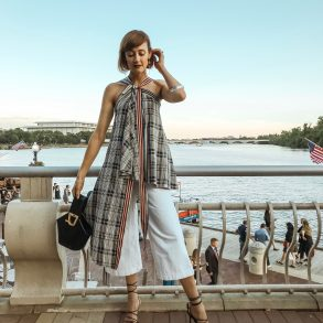 Monse plaid top via Rent the Runway Unlimited
