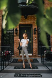gingham pants fall outfit