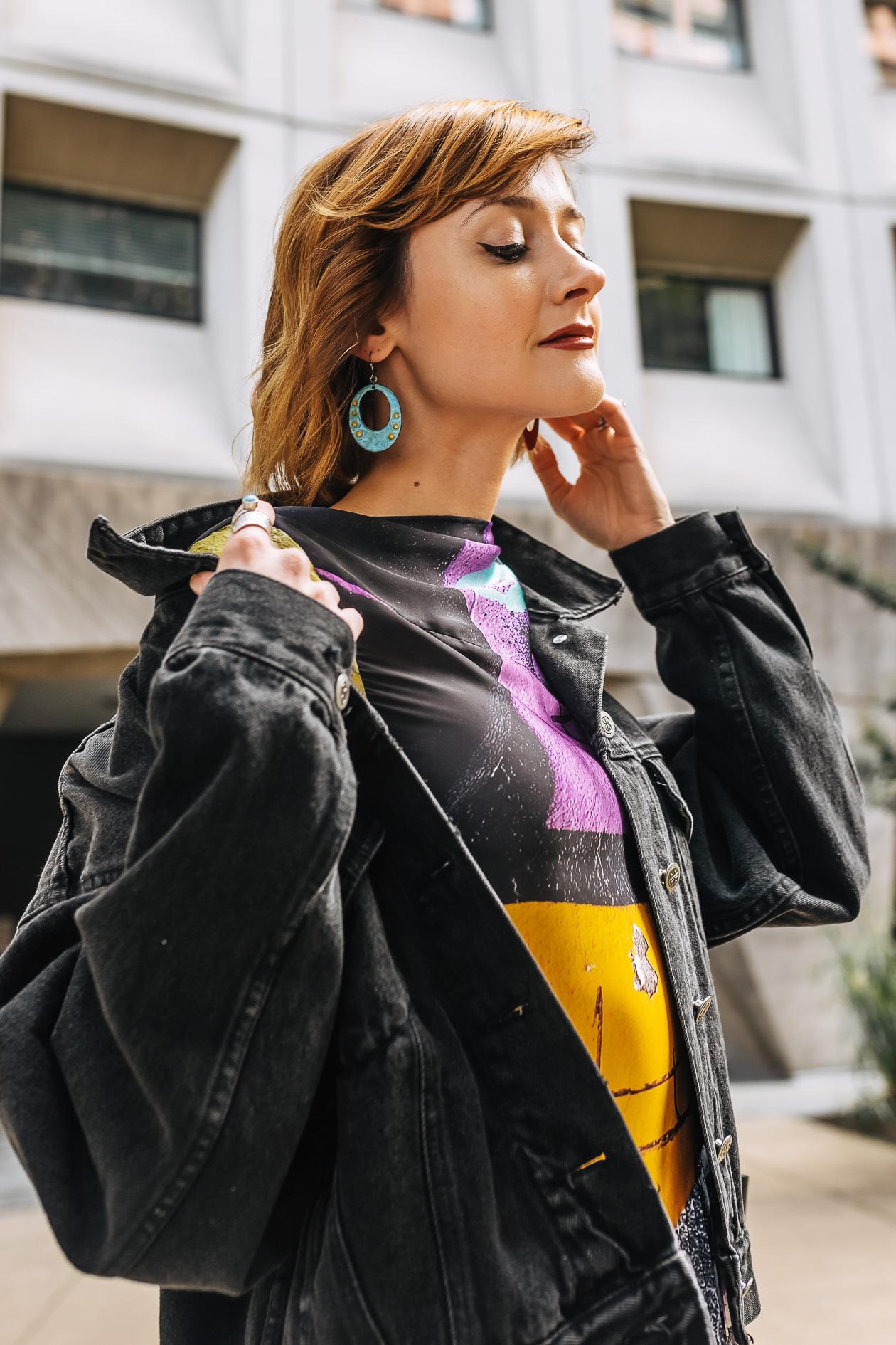 Papazian enamel earrings