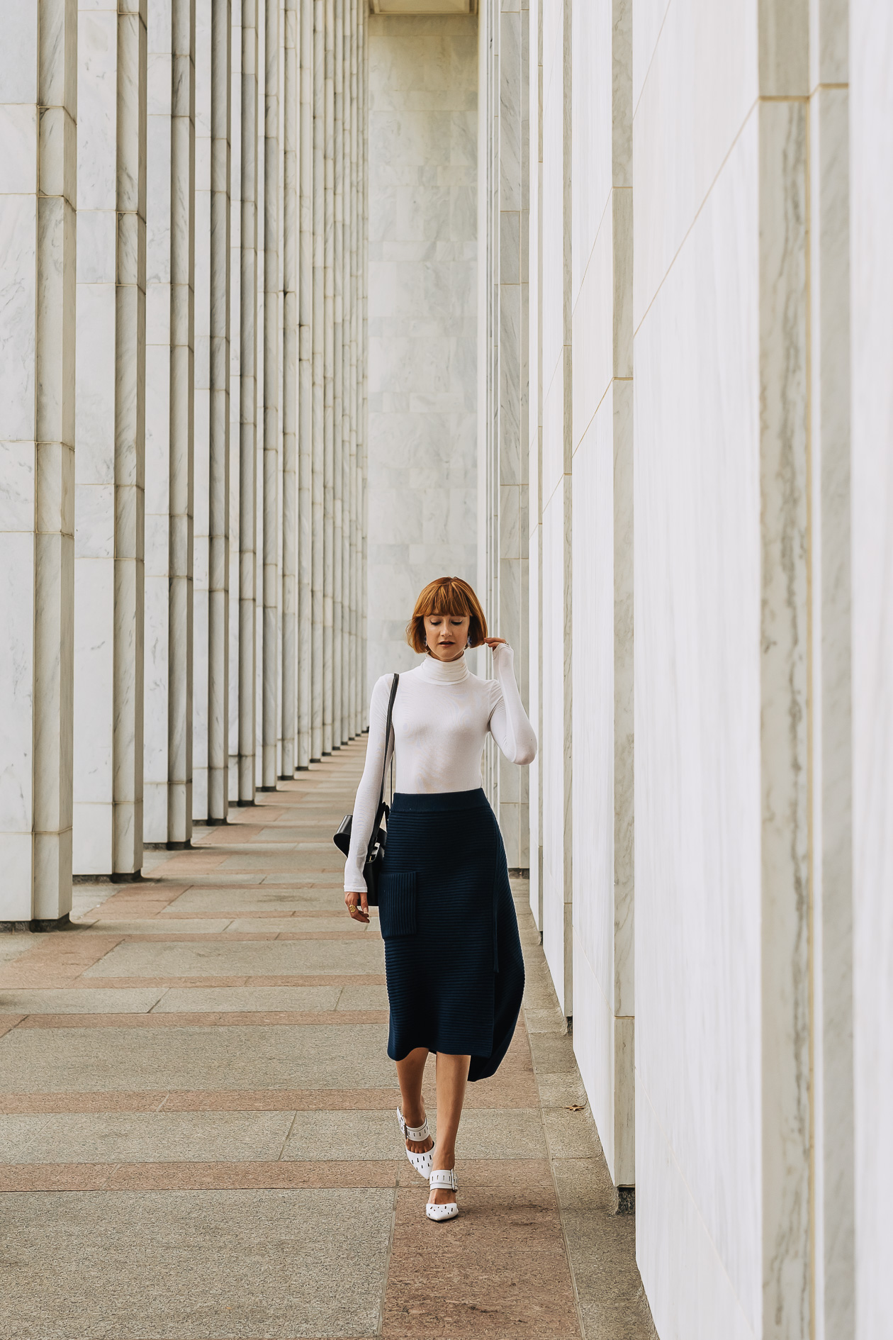Tibi knit skirt and turtleneck