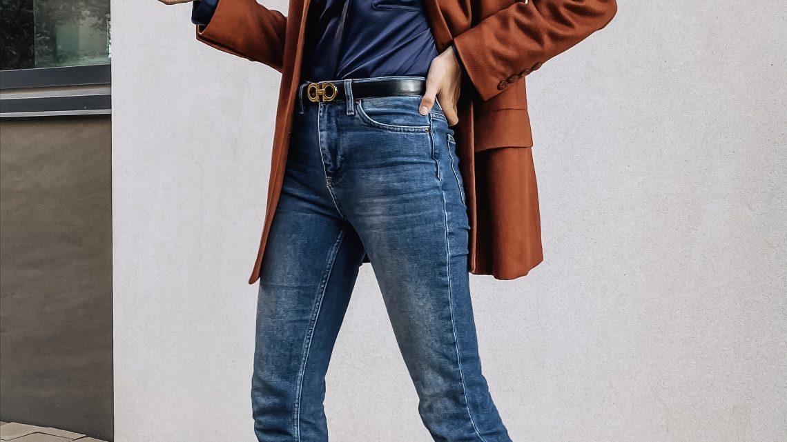 Untuckit satin blouse and Ferragamo belt Cyber Weekend deals