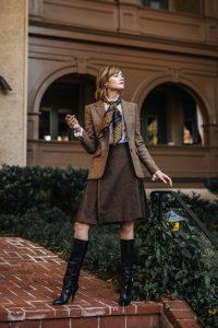 Brooks Brothers tweed jacket and skirt