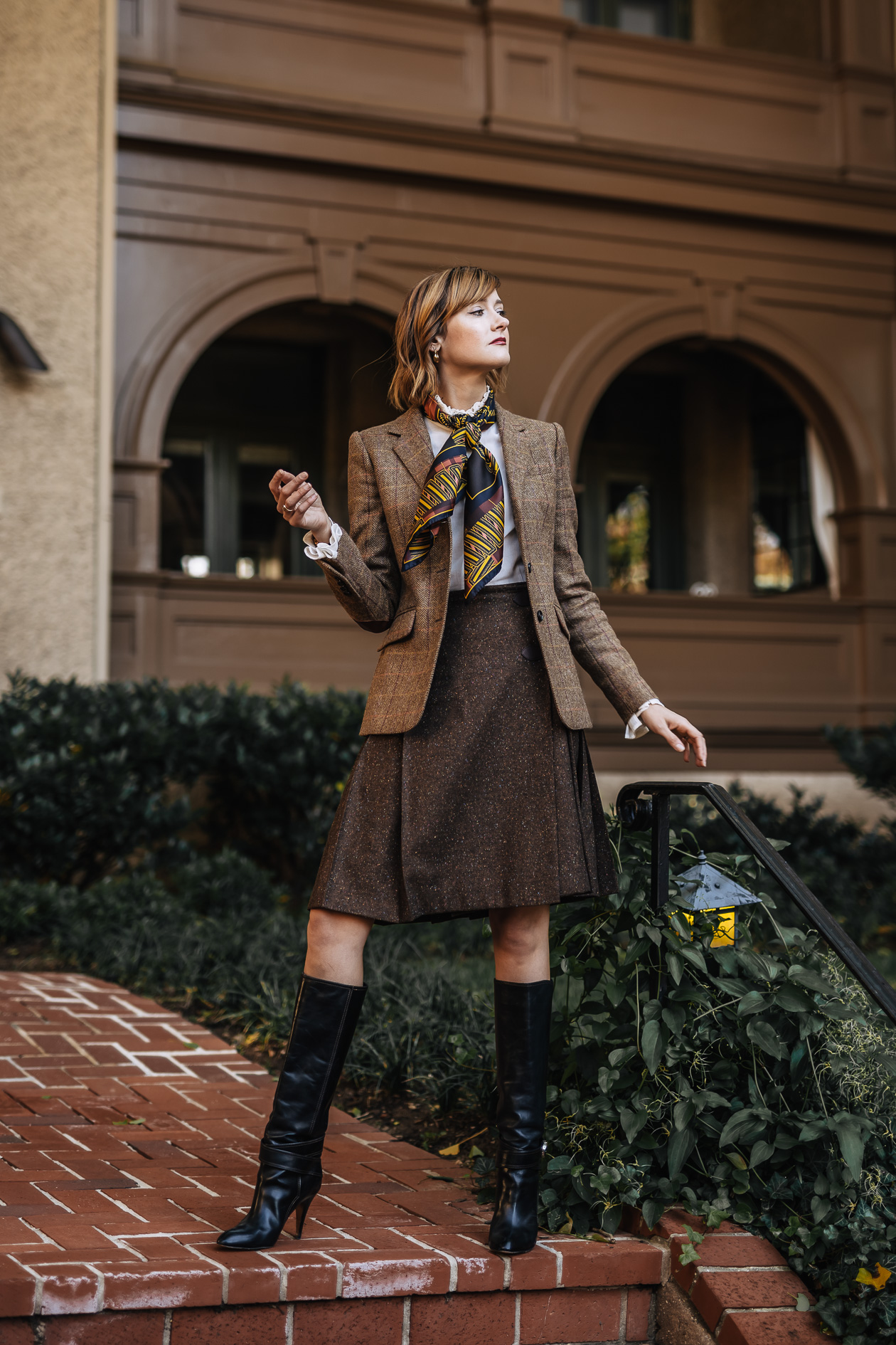 Brooks Brothers tweed jacket and skirt