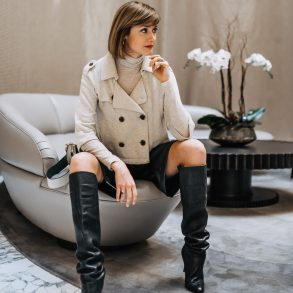 how to style leather shorts for winter