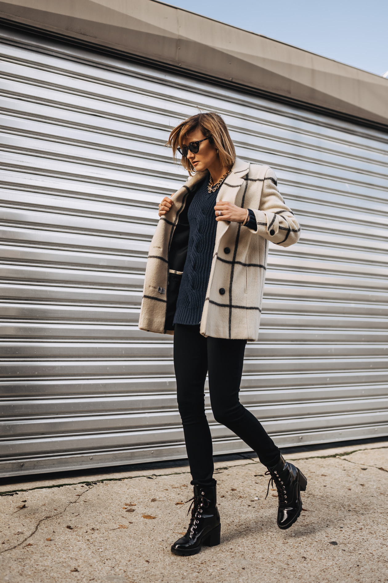 weekend outfit: fun coat + combat boots