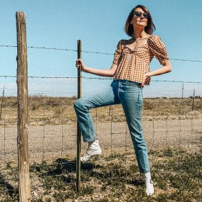 southwestern gingham outfit