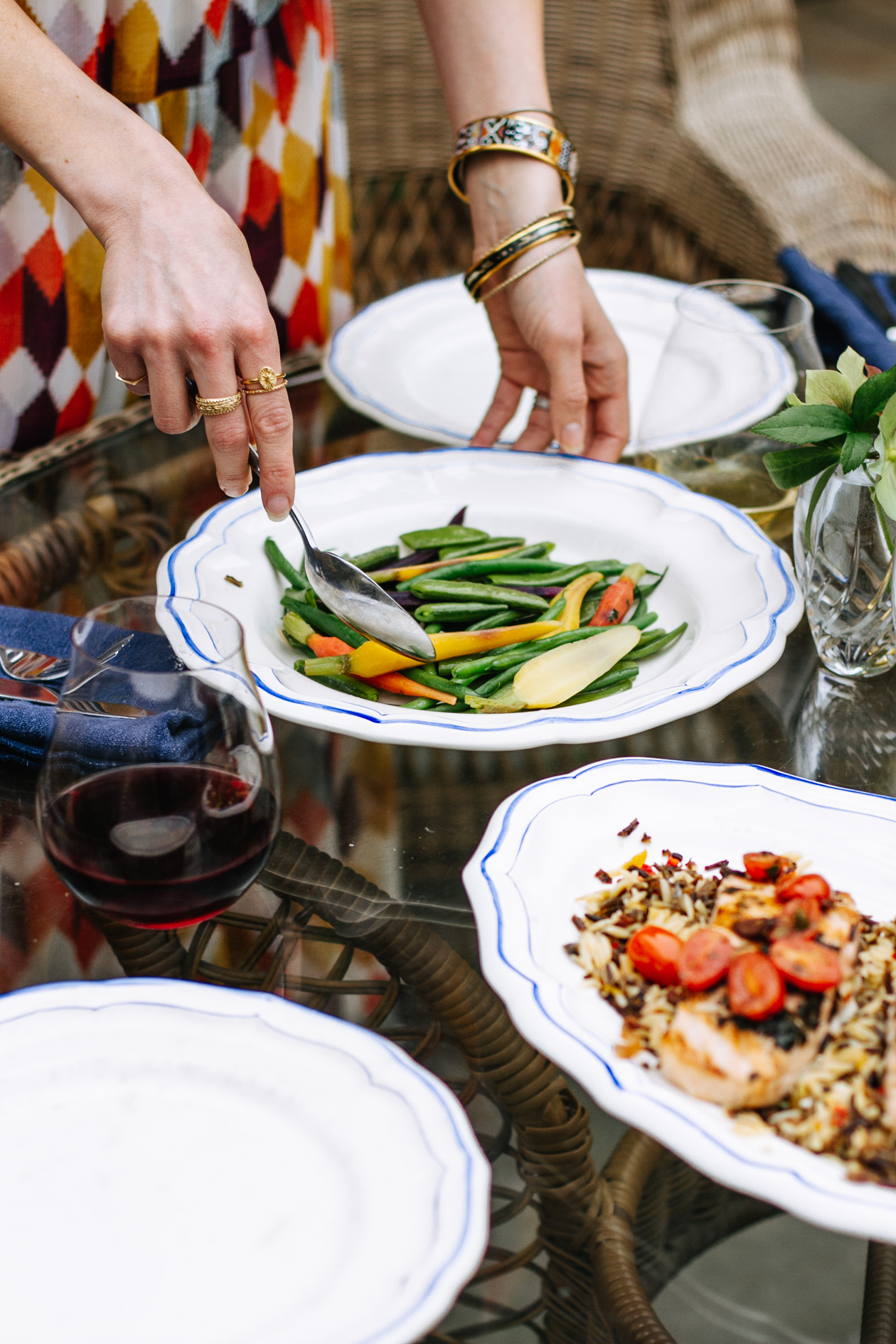 "plan a ""night out"" dinner at home with Susan Gage Caterers"