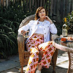 comfy chic print pants