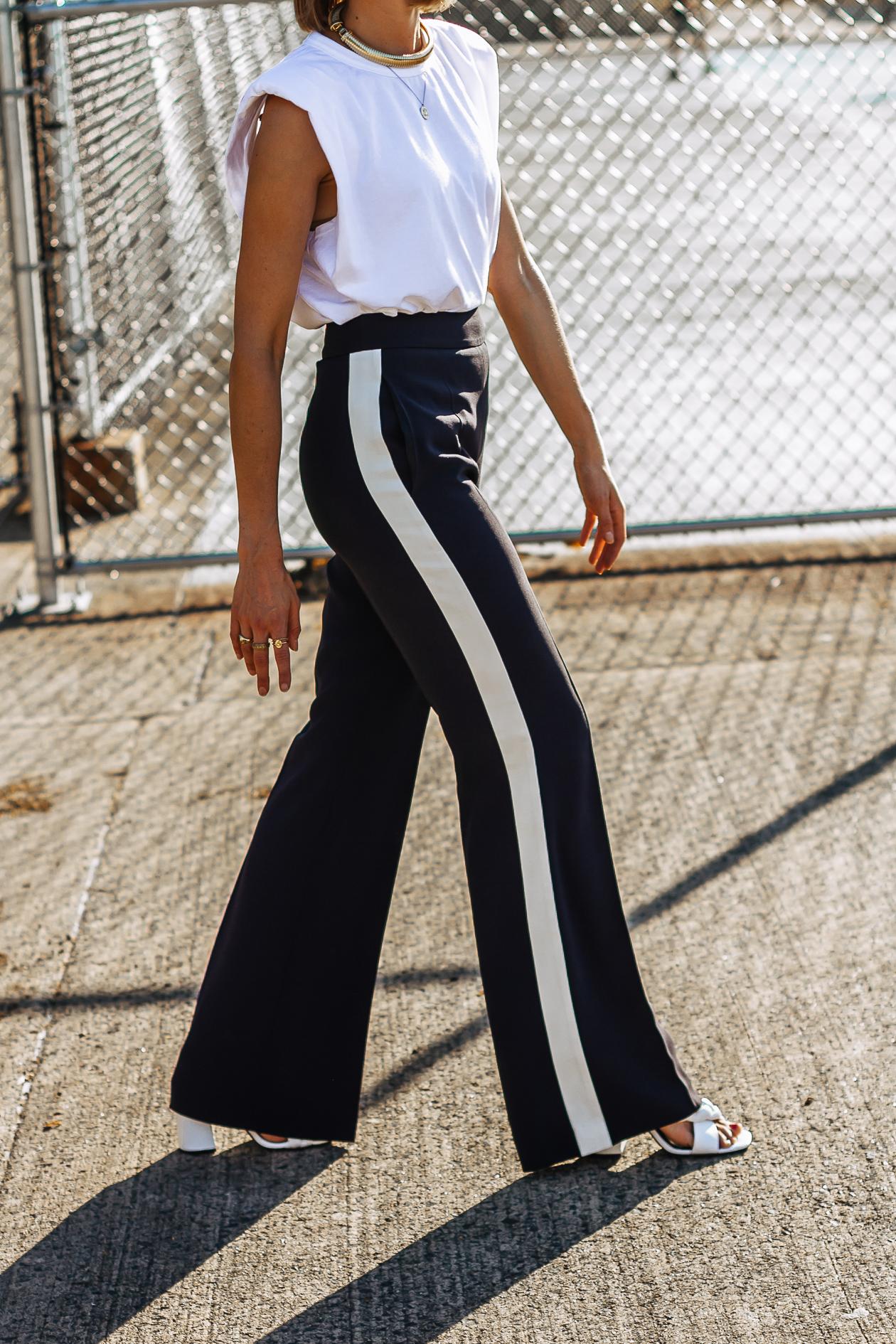 Hugo Boss navy stripe pants