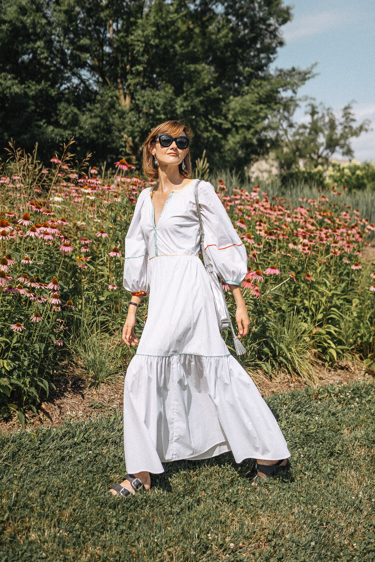 shop & style white maxi dress