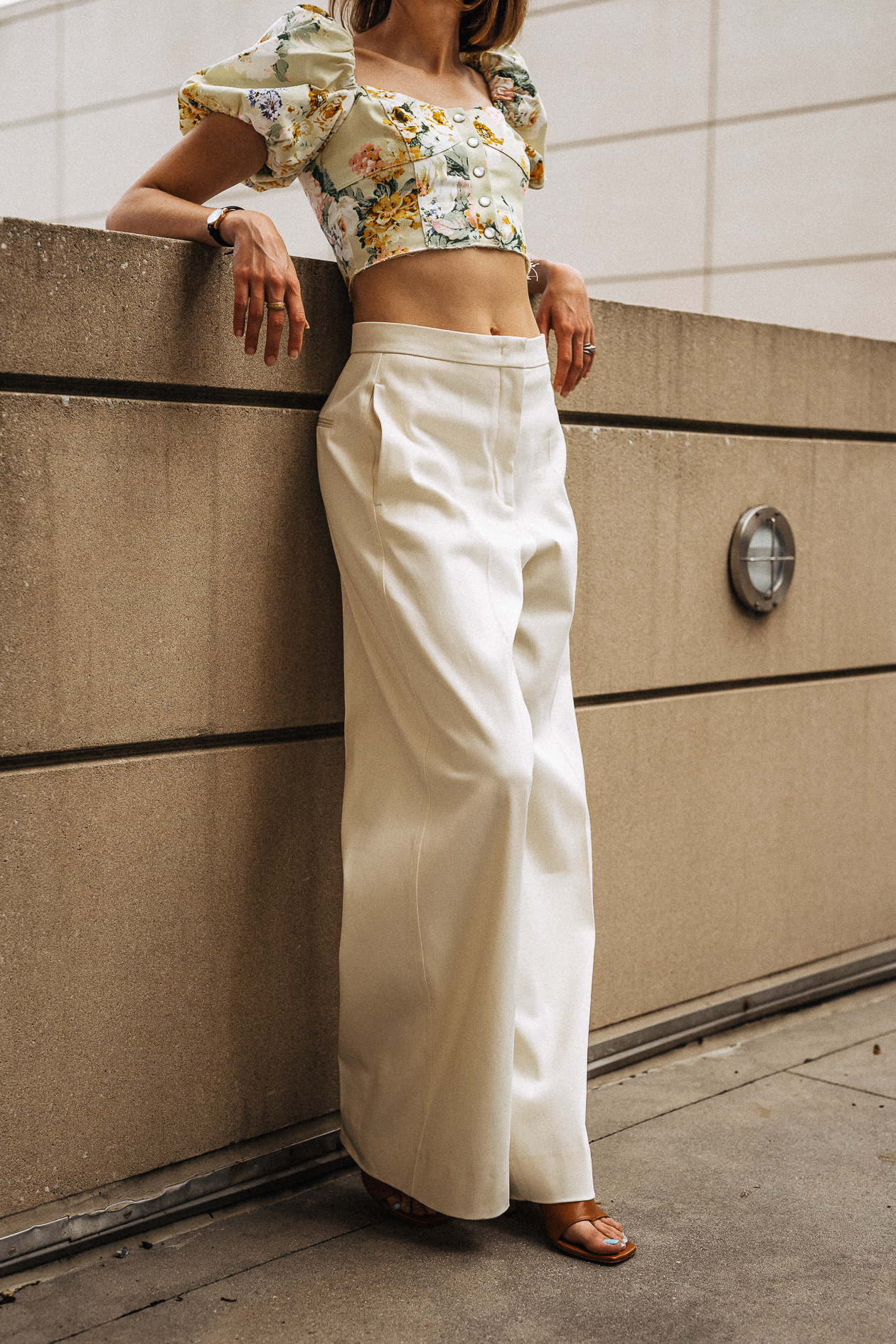 crop top & wide-legged pants