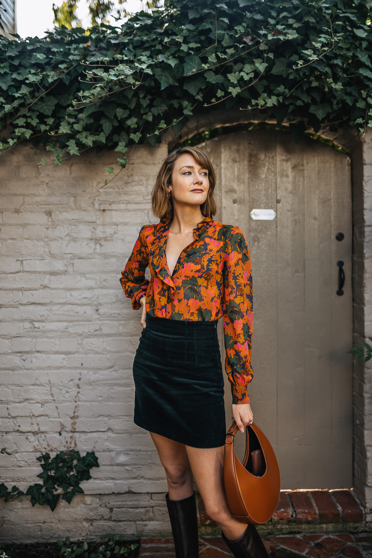 Sezane vintage-inspired fall outfit
