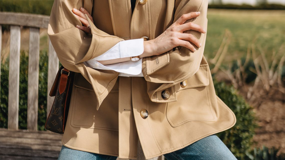 the essential spring jacket I'm wearing on repeat
