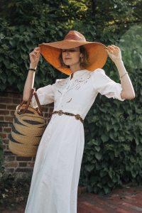 Sezane white maxi dress